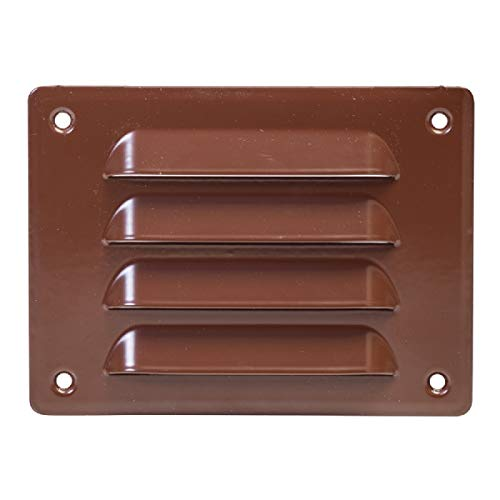 140x105mm / 5.5 x 4 inch Brown Air Vent Grille Cover Brown Ventilation Cover Metal with Insect Protection mr14105b