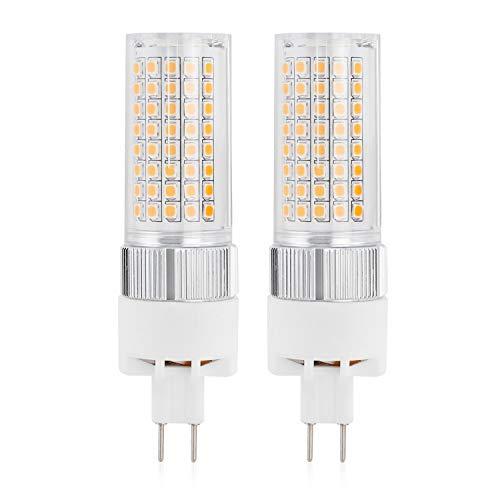 MENGS - 2 lampadine LED G8.5, 1600 lm, 18 W, ricambio per lampadine alogene da 140 W, 3000 K, luce bianca calda, angolo di irradiazione 180°, CRI80, AC 85-265 V