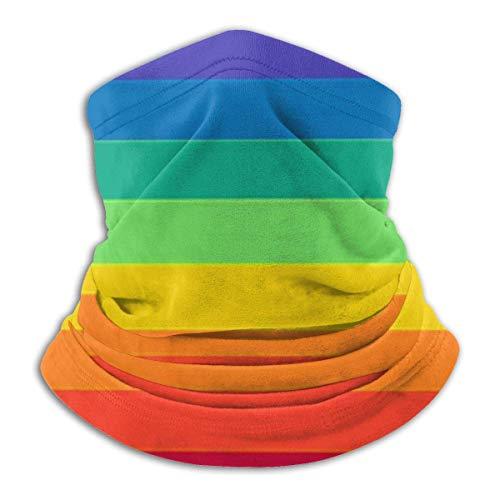 DFGHG LGBT Pride Rainbow Flag Microfibra Cuello Calentador Bufanda Polaina Headwear Mascarilla Bandanas