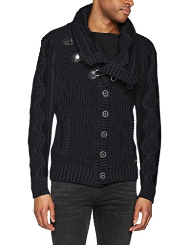 Black Faux Fur Sweater for Men