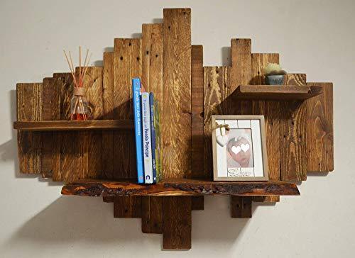 Biblioteca de madera maciza