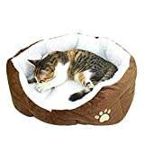 Westeng Panier rond ou ovale pour petit chien ou chat