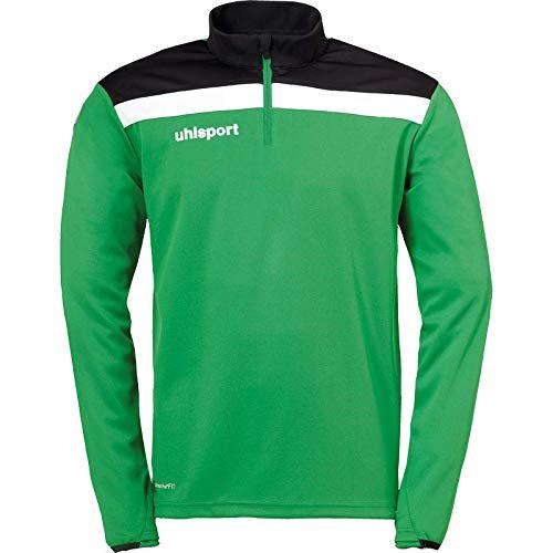 uhlsport Herren Offense 23 1/4 Zip TOP Fussball Trainingsbekleidung, rot/schwarz/weiß, 164