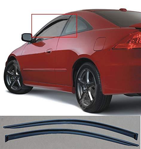 2pcs Vent Shade Side Window Wind Deflectors,for 2003-2007 Honda Accord 2-Door Coupe Sun Rain Guard Window Visors