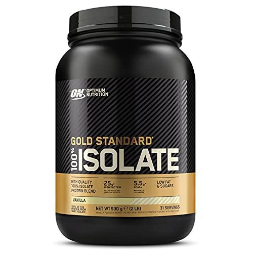 Optimum Nutrition ON Gold Standard 100% Isolate, Whey Isolate Protein Pulver, Eiweißpulver mit natürlich enthalten Glutamin und Aminosäuren, Vanilla, 31 Portionen, 930g