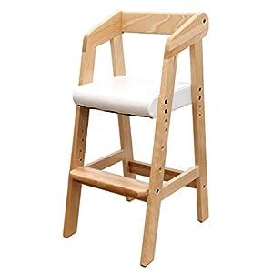 タンスのゲン ベビーチェア 木製椅子 ハイチェア クッション 木製 ハイタイプ キッズチェア 高さ調節可能 ナチュラル 30600003 NAAM (63514)