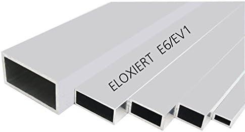 auf Zuschnitt Aluminium Rechteckrohr AW-6060-50x25x2mm 60cm L: 600mm
