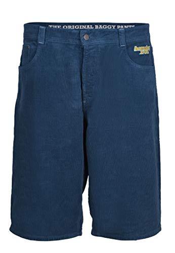 Homeboy X-TRA Baggy Cord - Pantalones cortos Azul y acero. 34