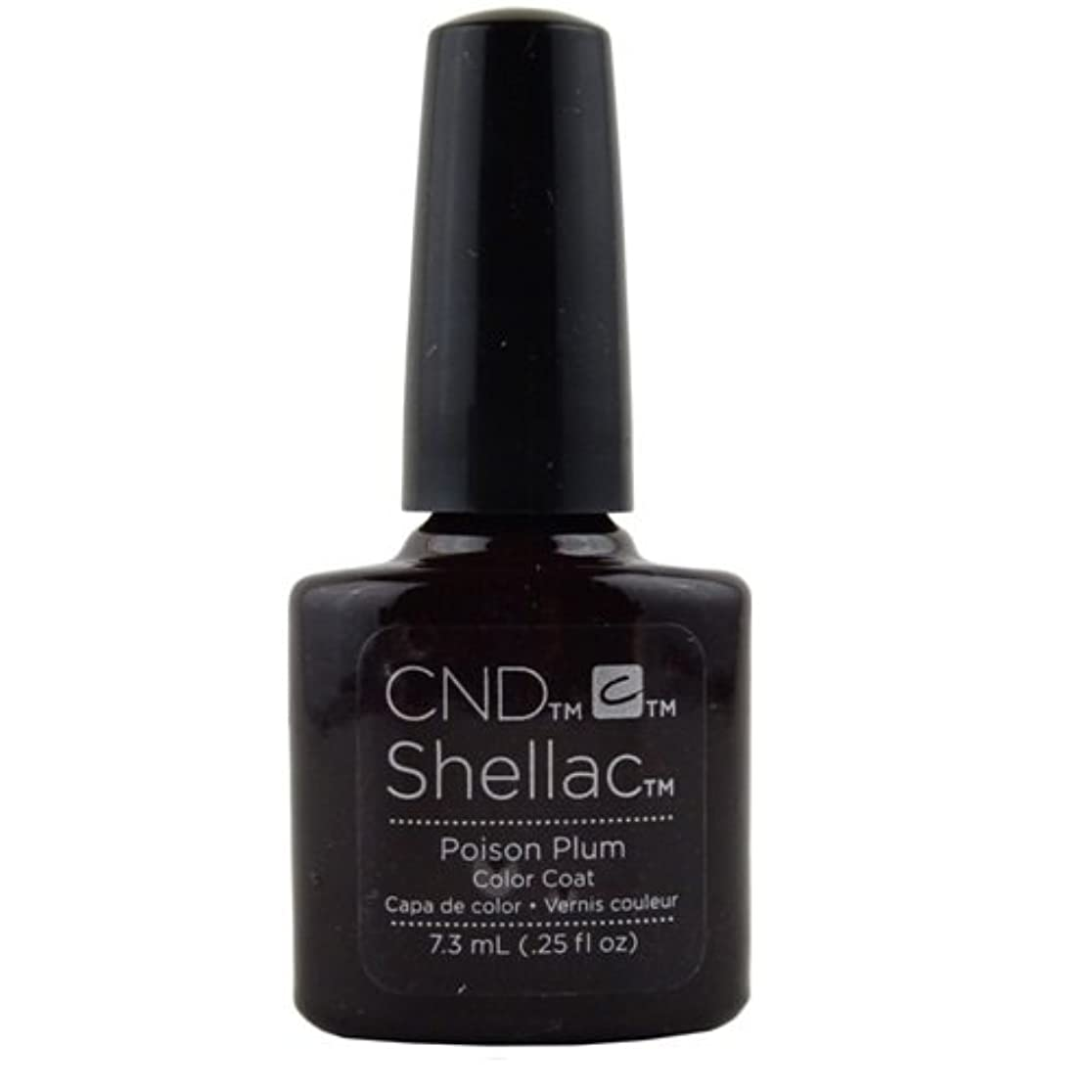 永遠に累計永遠にCND Shellac Gel Polish - Poison Plum - 0.25oz / 7.3ml