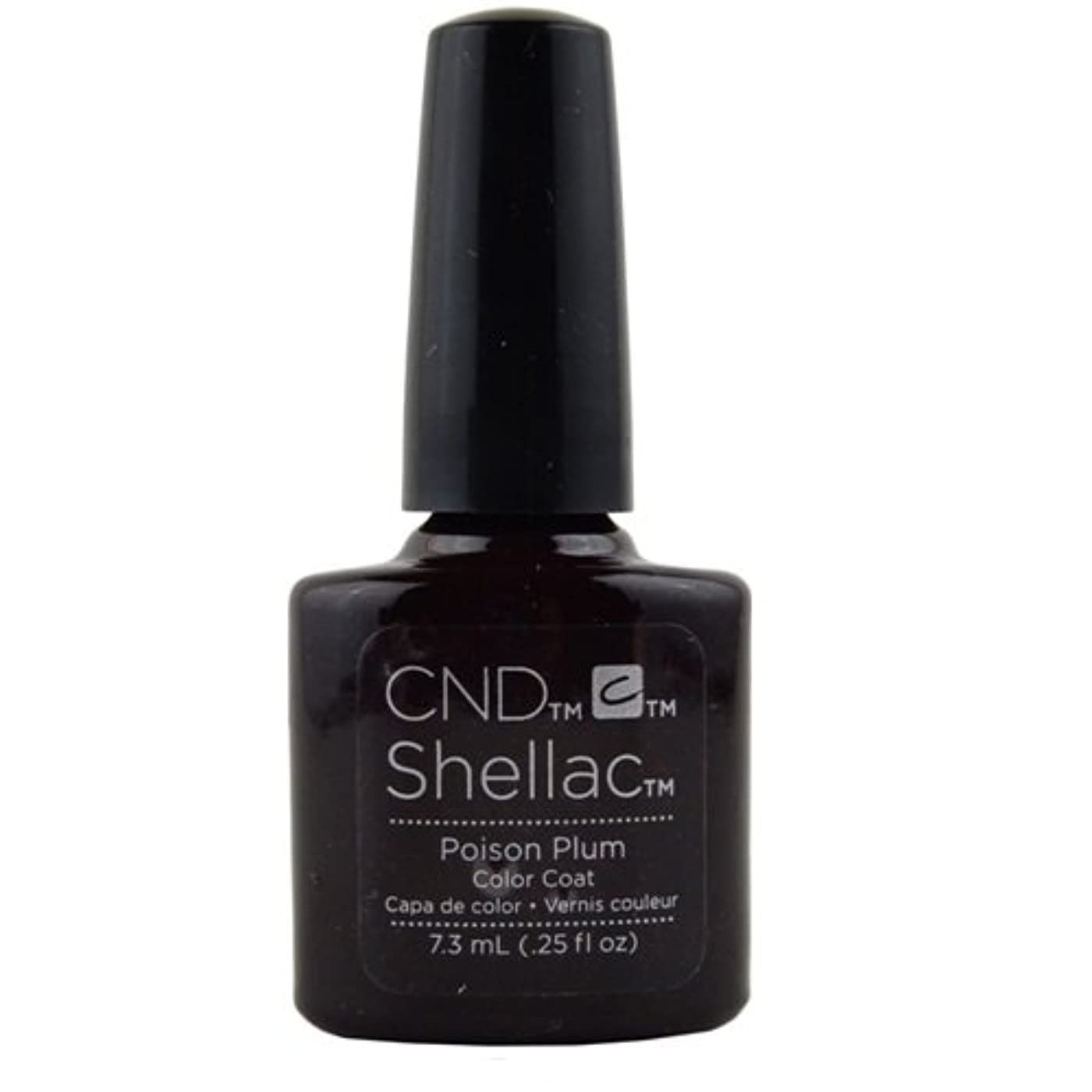 カルシウム認識アカデミーCND Shellac Gel Polish - Poison Plum - 0.25oz / 7.3ml