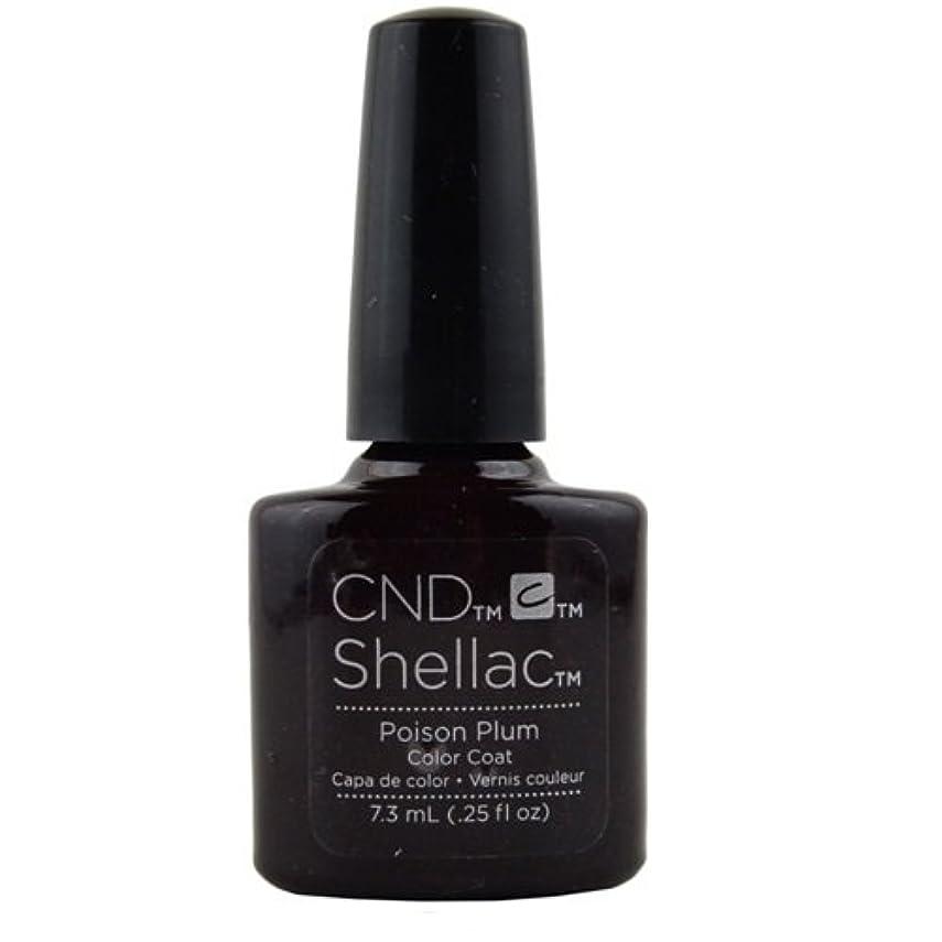 温帯略す楽なCND Shellac Gel Polish - Poison Plum - 0.25oz / 7.3ml