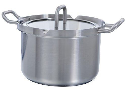 BK Cookware B9710.320 Q-linair Master glazen kookpan, 20 cm, 3,5 L, glazen deksel