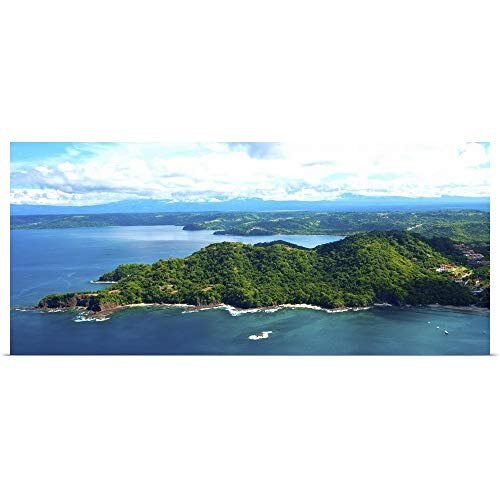 "GREATBIGCANVAS Poster Print Island in Pacific Ocean, Four Season Resort, Papagayo Bay, Guanacaste, Costa Rica by 36""x16"""