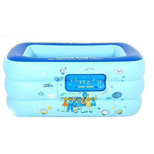 ZHOU LI Enfants antidérapants gonflable Folding Multi Size Siège Baignoire, douche portable pliable Tub Blue Bain Isolation Adult Home Spa piscine épais, Travel Air Basin de bains