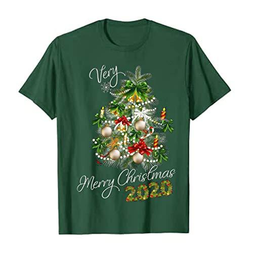 Dicomi Party Kleid Christmas Mode Damen Weihnachten Casual Rundhals Pullover Print Rundhals T-Shirt Tops Bluse