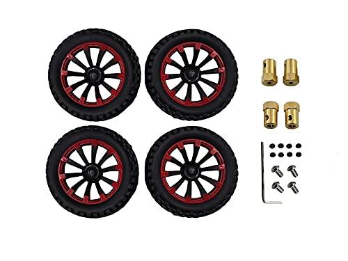 WMryp Ruedas y neumáticos Mini Niveles De Rueda para MN 1:12 RC Car MN90 MN90K MN91 MN91K MN45 MN45K MN99 MN99S Accesorios De Actualización ( Color : 03 Red )
