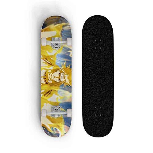 Skwingt Anime Skateboard Longboards 7 Capas Cubiertas Complete Cruiser Profesional Estándar Anime...