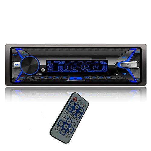 PolarLander Autoradio Bluetooth, 4×50W Manos Libres Radio Estéreo de Coche, Llamadas Manos Libres, Función de Radio 1 DIN/Desmontable Panel Frontal/RDS/FM/USB/TF/AUX IN/Control Remoto