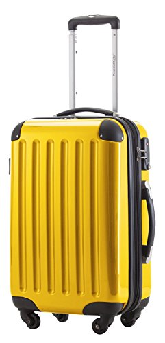 HAUPTSTADTKOFFER - Alex - Carry on luggage Suitcase Hardside Spinner Trolley Expandable 20¡° TSA Yellow