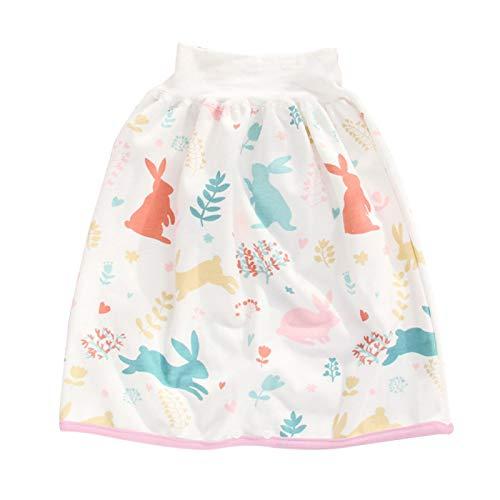 Faderr Falda de pañales para niños 2 en 1, falda de entrenamiento para bebé para dormir en el orinal, falda para pañales impermeable reutilizable cintura alta