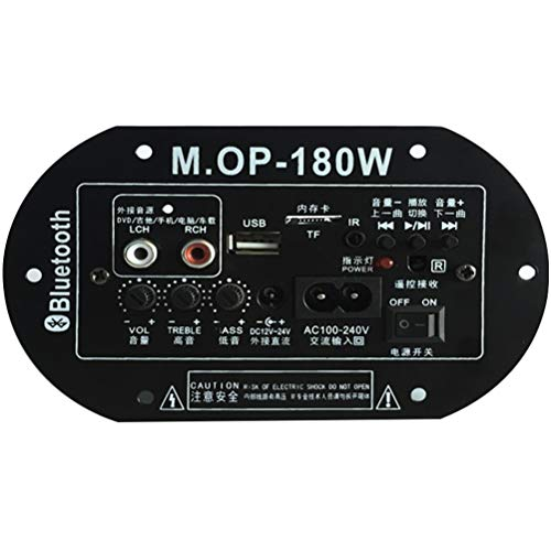 KDLK MOP-180 AC220V 12V 24V Placa Amplificadora Digital De Alta Potencia Bluetooth Subwoofer Amp Car Home TF USB RCA Amplificador De Audio