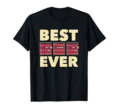 El Mejor Papá Música Regalo Del Día De Papá De La Guitarra Camiseta