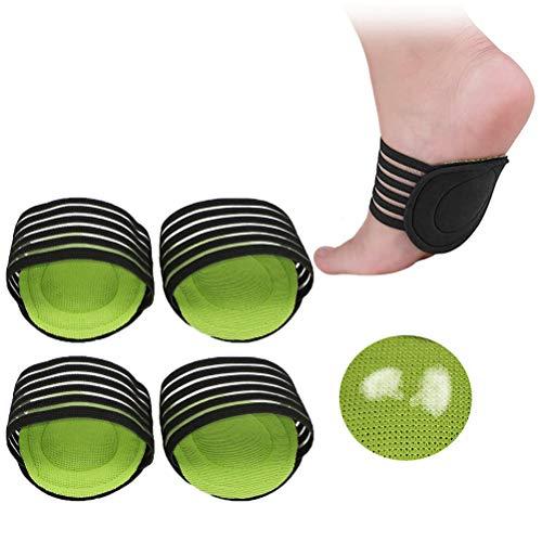 2 pares de mangas acolchadas de compresión para la fascitis plantar, arcos caídos, espolones de talón, problemas de pies ásperos para hombres y mujeres (gruesas)