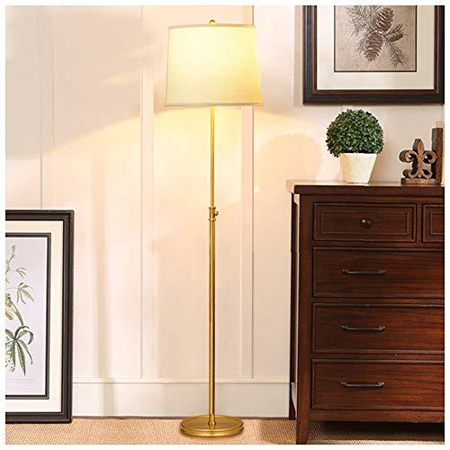 QTDH staande lamp voor woonkamer, Amerikaans koper, uitneembare staande lamp, hoge paal werklamp, staande leeslamp, uplight voor slaapkamer, kantoor