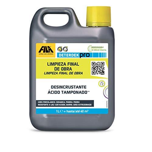 FILA Surface Care Solutions Deterdek Detergente desincrustante ácido, No Aplica, 1 Liter