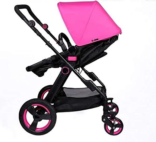Multi cochecito 2 en 1 Carrito Bebe y silla de paseo el capazo se convierte fácilmente en una silla y viceversa 2020 - Rosa