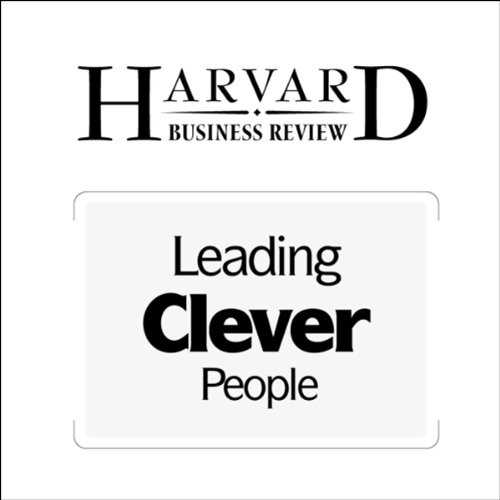 Leading Clever People (Harvard Business Review) audiobook cover art