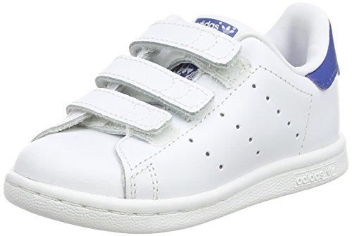 adidas Stan Smith, Chaussures Bébé marche Garçon Unisex Kinder, Blanc (FTWR White/FTWR White/EQT Blue S16), 21 EU