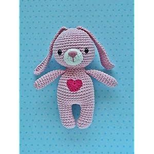Häkeltier Hase Mini rosa aus Baumwolle Handarbeit