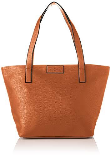 TOM TAILOR bags MIRI ZIP Damen Shopper L, cognac, 43/36x17,5x28