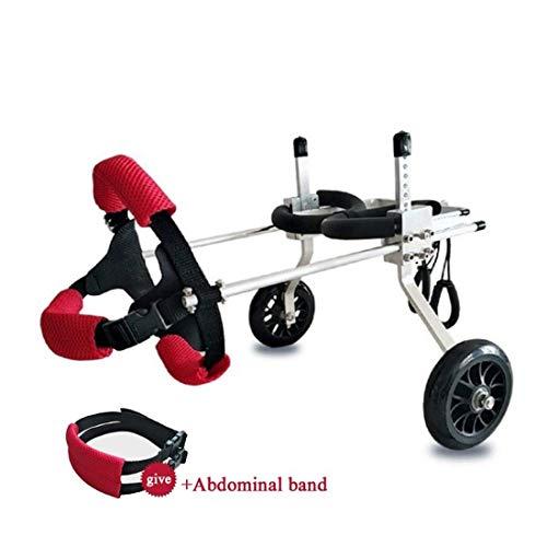 JLFSDB Best Friend - Dog Wheelchair, 2-Wheel Rear Support Wheelchair, Adjustable Pet/Cat Dog Wheelchair Hind Leg Rehabilitation for Handicapped Dog (Size : XS (Widening))