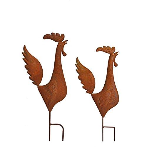 La Grande Prairie Ensemble de Silhouettes Poules et Coq 3D