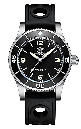 Steeldive SD1952 - Orologio subacqueo, Fifty Fathoms 2020, NH35, AR...