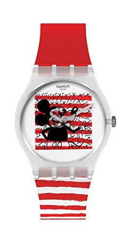 Swatch Correa definida de cuarzo, negro, 16 reloj casual (Modelo: GZ352)