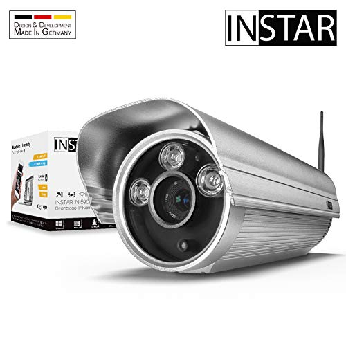 INSTAR IN-5907HD Silber - WLAN Überwachungskamera - IP Kamera - wetterfeste Außenkamera - Aussen - Alarm - Eingang - Ausgang - Bewegungserkennung - Nachtsicht - LAN - Wi-Fi - RTSP - ONVIF