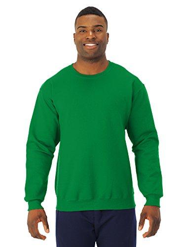 JERZEES - Crewneck Sweatshirt. 562M, LARGE, Kelly
