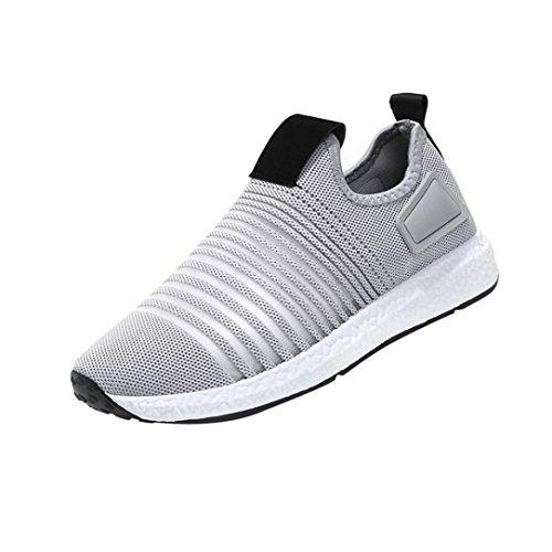Chenang Sneaker Herren Plüsch Wandern Reise Schuhe Gepolsterte Sneakers Low-Top Sport Trekking Running Fitnessschuhe Laufschuhe Turnschuhe atmungsaktive (40 EU, Grau)