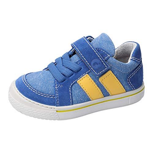 RICOSTA Kinder Low-Top Sneaker Jona, Weite: Mittel (WMS), Klett-Verschluss Kids Jungen Kinderschuhe toben Spielen verspielt,Azur/Aqua,35 EU / 2.5 UK