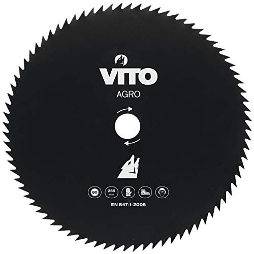 Lame de coupe débroussailleuse VITO AGRO 80 dents - diam 255mm Alesage 25.4