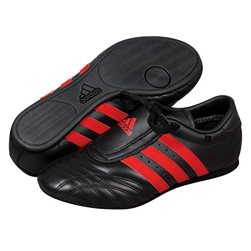 adidas SM II Low Cut Martial Arts Taekwondo, Karate and Kungfu Training Shoes - Black Red - Size 7 (250cm)