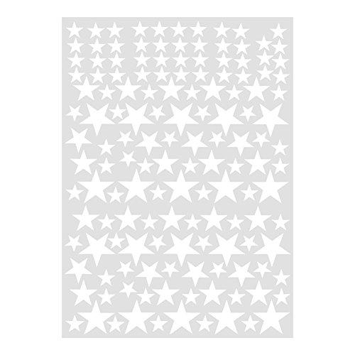 Fdit Etiqueta De Pared De Pvc Extraíble Pegatina De Pared De Estrellas Diy Etiqueta De Pared De Arte Vinilo Calcomanía Decoración Para Sala Hogar(Blanco)