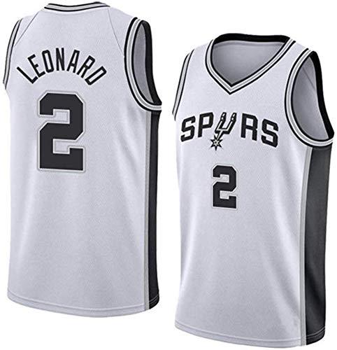 HSLIUYILYA Jersey di Pallacanestro Maschile, NBA - San Antonio Spurs # 2 Kawhi Leonard, Tessuto Reticolare Traspirante, Camicia Senza Maniche Unisex Jersey,XL(180~185cm/85~95kg)