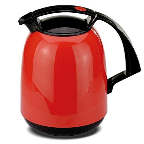 ROTPUNKT Isolierkanne 810 FAY 1,0 l | Zweifunktions-Drehverschluss | BPA-frei - gesundes Trinken | Made in Germany | Warm + Kalthaltung | Glaseinsatz | Chili