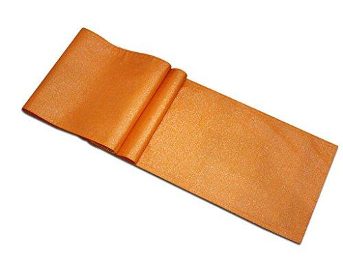 I will take action now Schlichte, modische Tischdecke aus Seide, hohl, Tischflagge, Kaffeetischdecke, TV-Schrank-Zubehör, Klavierbezug, Tuch (Farbe: Orange, Größe: 30 x 183 cm)