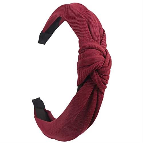 XSHIYQ Bandeau Noeud Couleur Unie pour Femmes Simple Tissu Filles Bandeau Femmes Accessoires de Cheveux Large Bande de Cheveux Côté 12 cm 22