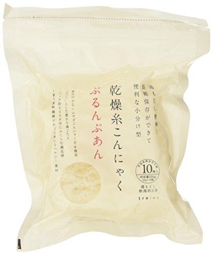 【6袋セット】 低カロリー!ヘルシー!無添加!無農薬! 乾燥 糸こんにゃく ぷるんぷあん (25g×10個入)X6セット (乾燥 しらたき ゼンパスタ)